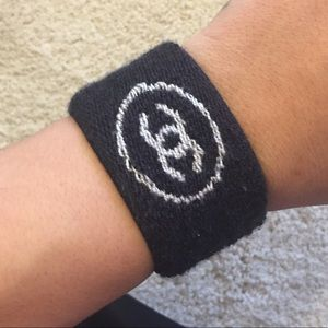Rare Authentic chanel sweat wrist band